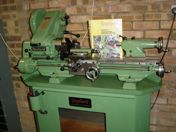 Myford Super 7 power cross-feed lathe (Myford Super 7 Lathes)